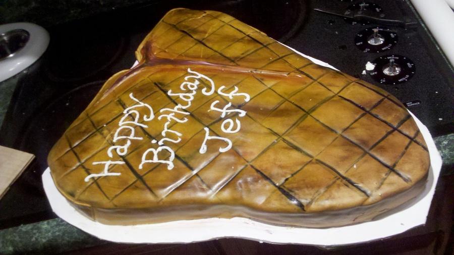 Wondrous Steak Birthday Cake Cakecentral Com Funny Birthday Cards Online Inifofree Goldxyz