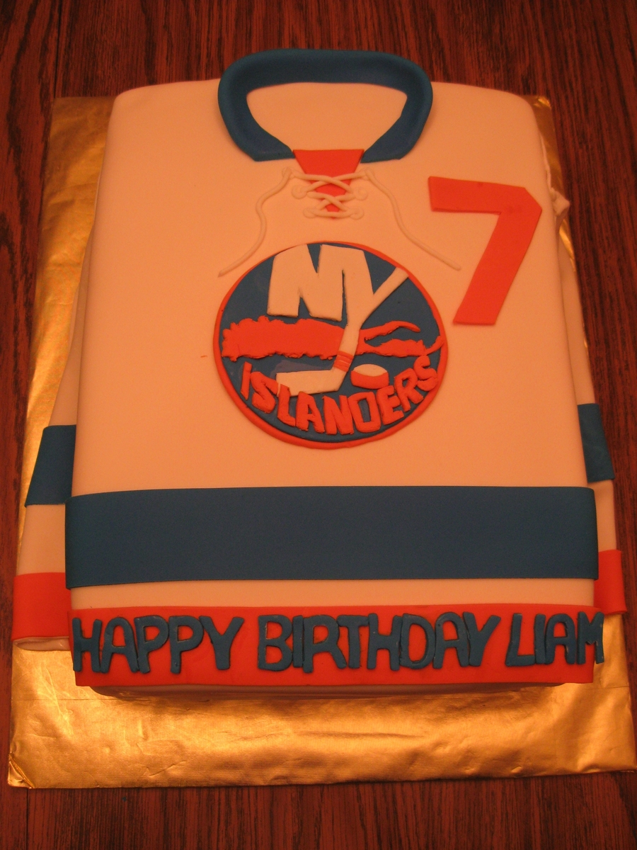 Islander's Jersey on Cake Central