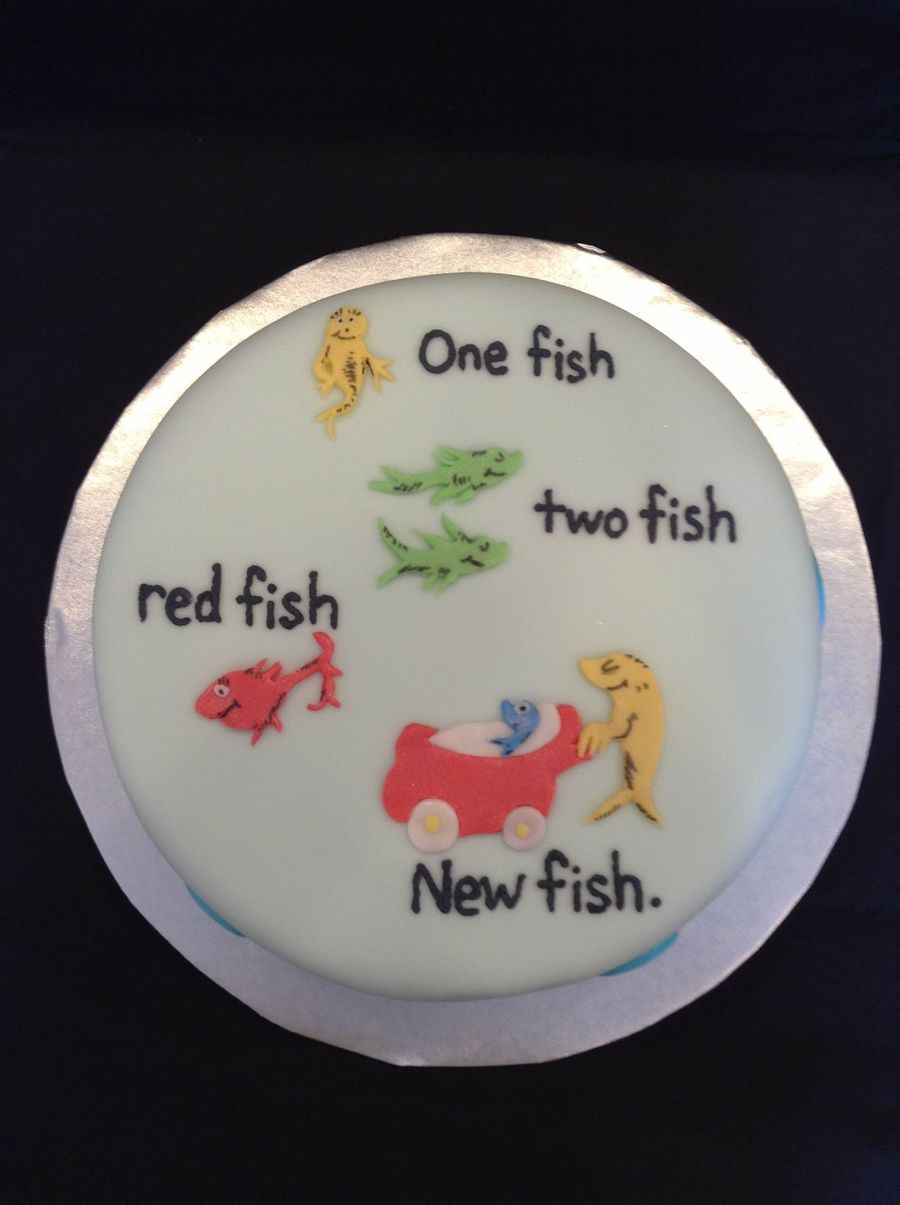 Dr Seuss One Fish Two Fish Red Fish New Fish Cake
