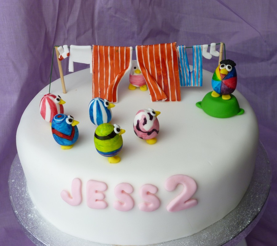 Egg Birds Birthday Cake CakeCentralcom