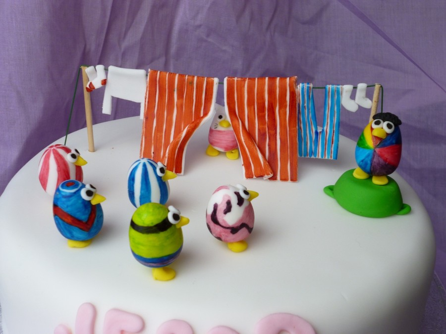 Egg Birds Birthday Cake CakeCentralcom