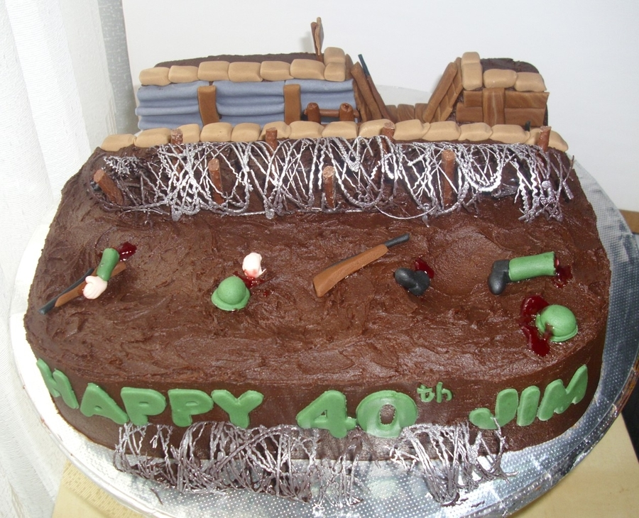 World War One Trench Birthday Cake Cakecentral Com