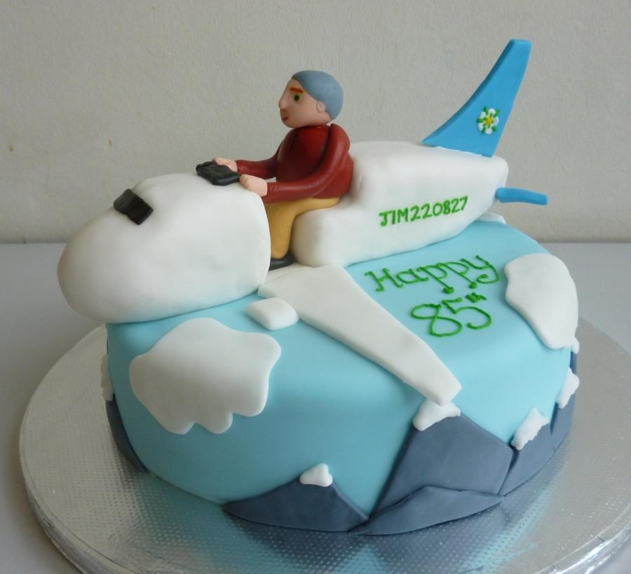 Grandads Flight Sim Birthday Cake CakeCentralcom