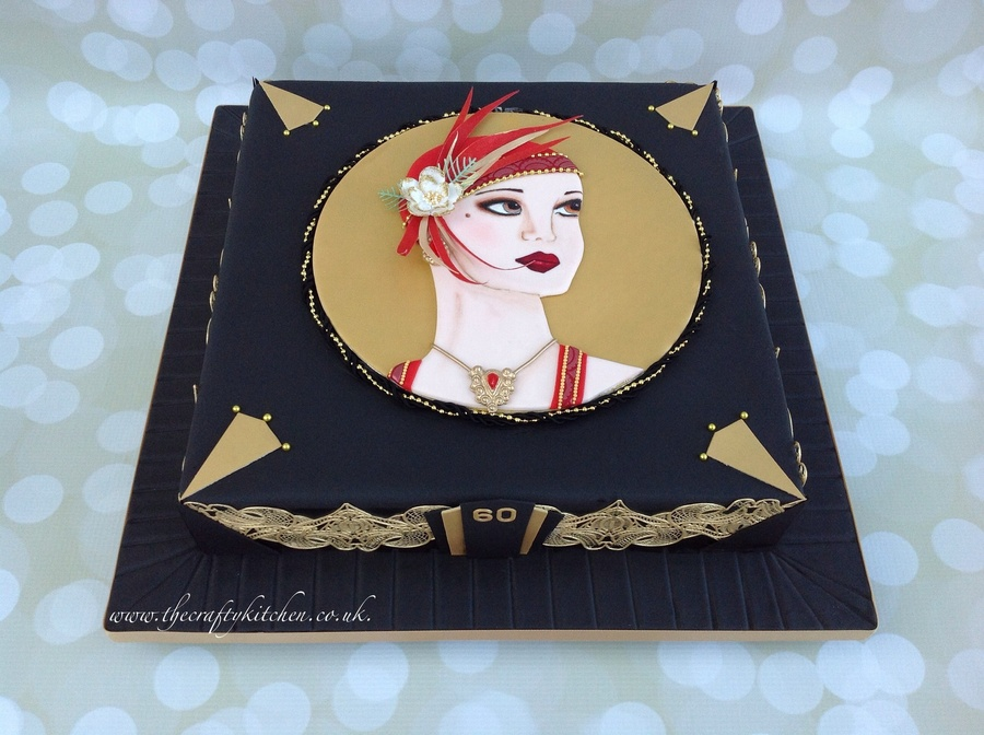 Art Deco Lady - CakeCentral.com