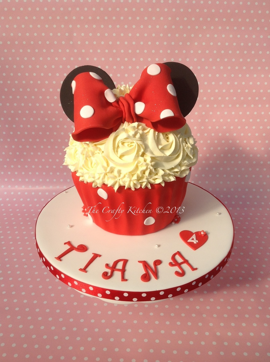 Mini Mouse Themed Cupcake  on Cake Central