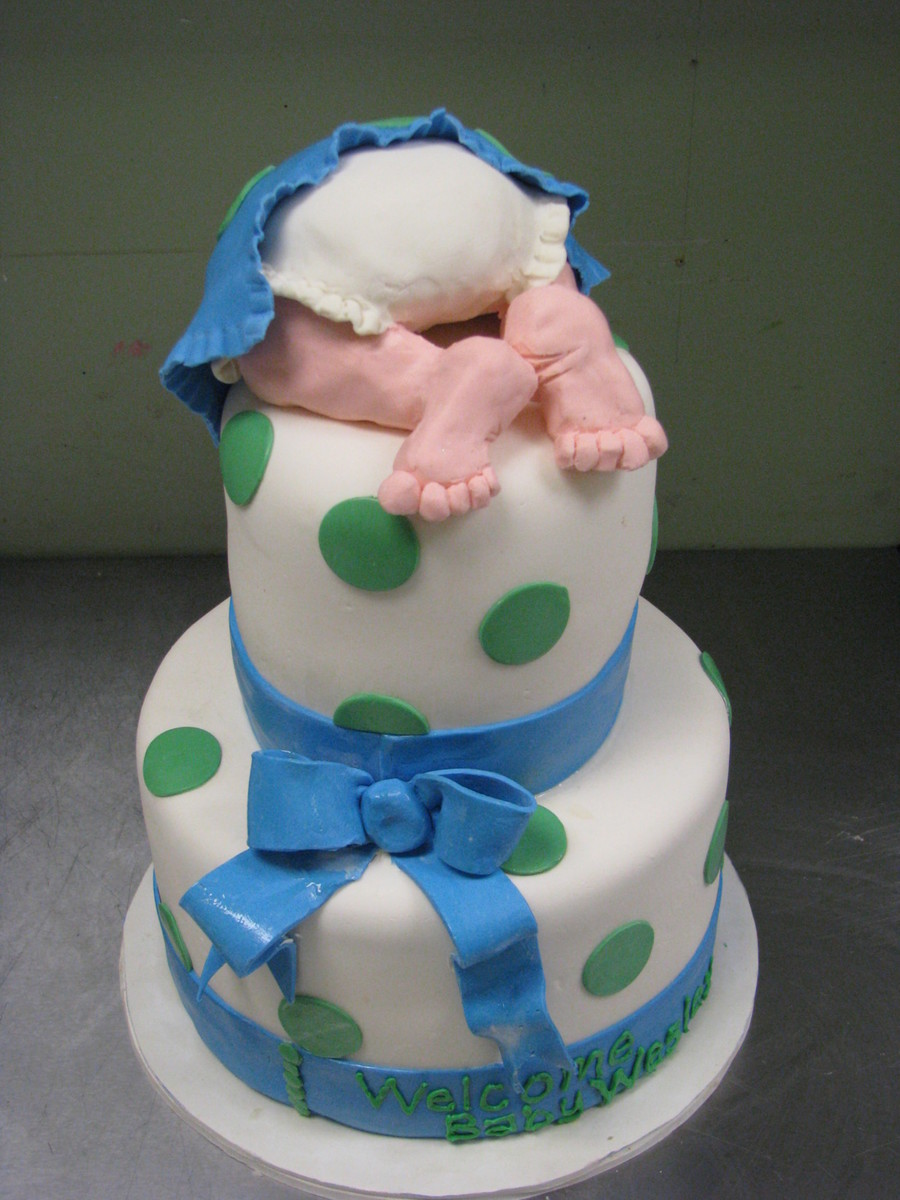 Polka Dot Baby on Cake Central
