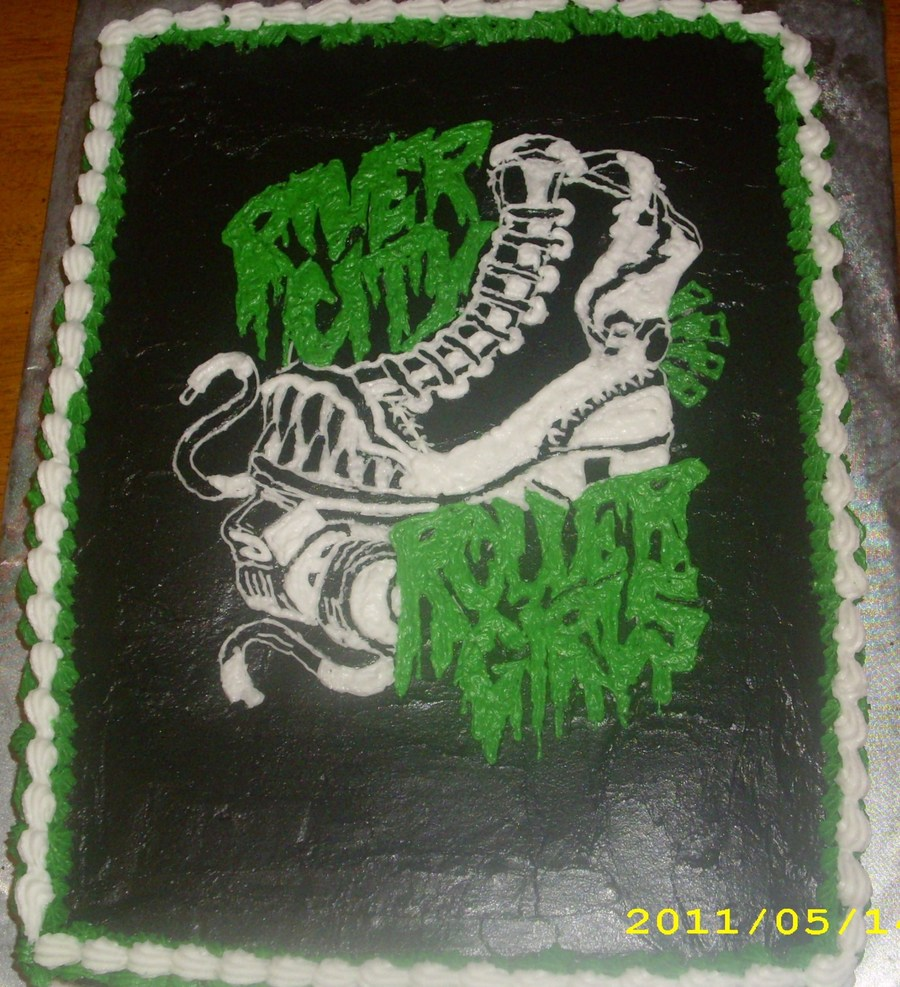 River City Rollergirls Logo on Cake Central