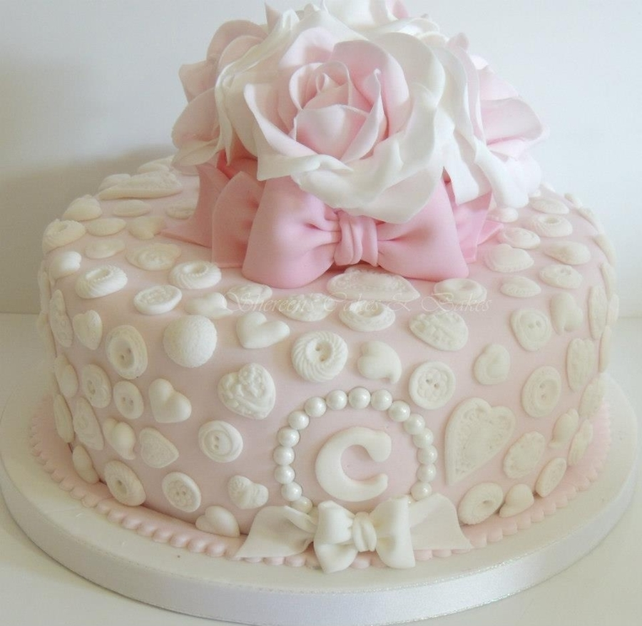 Pretty Birthday Cake - CakeCentral.com