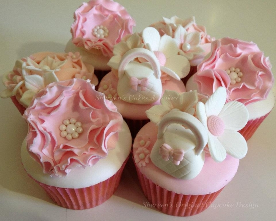 Girly Cupcakes  on Cake Central