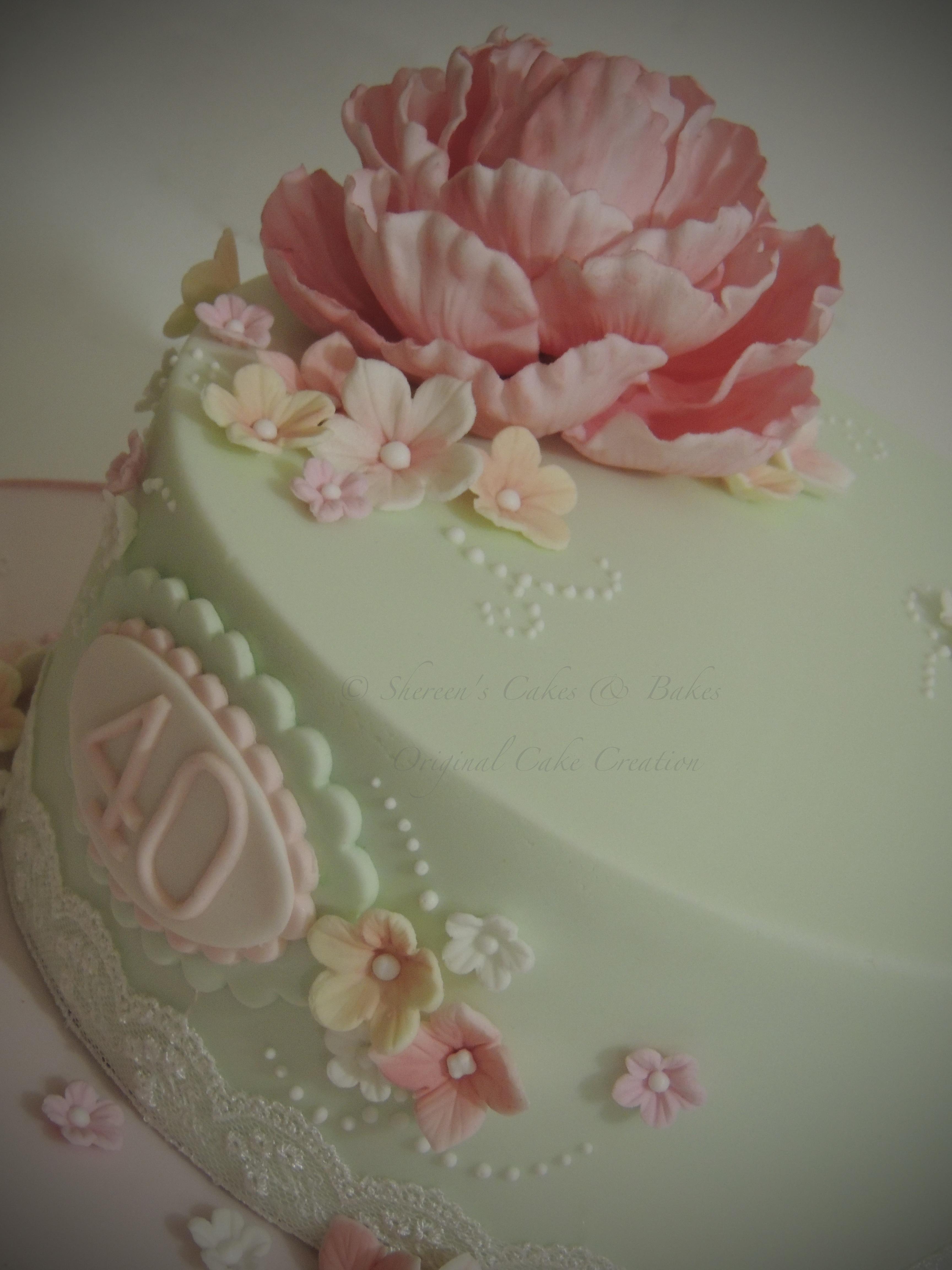 Peony Cake - CakeCentral.com