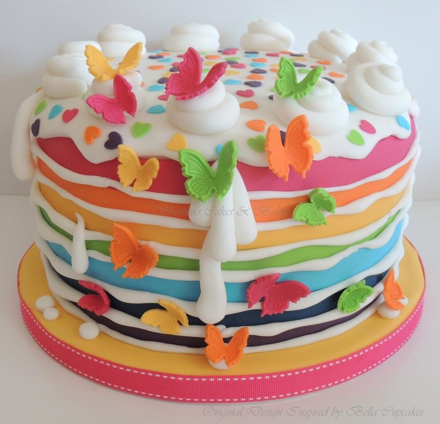 Fondant Cake For Baby Girl