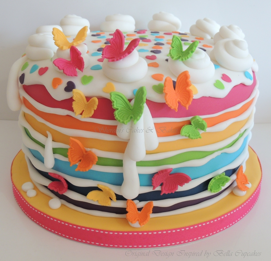 Naked Cake Birthday Cake Idea For  Old