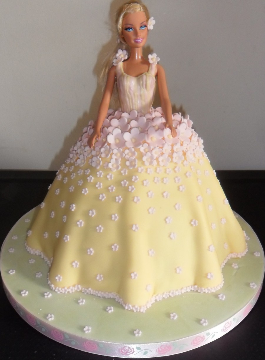 How To Make Doll Cake At Home