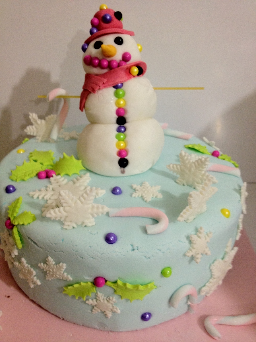 Snowlady Cake on Cake Central
