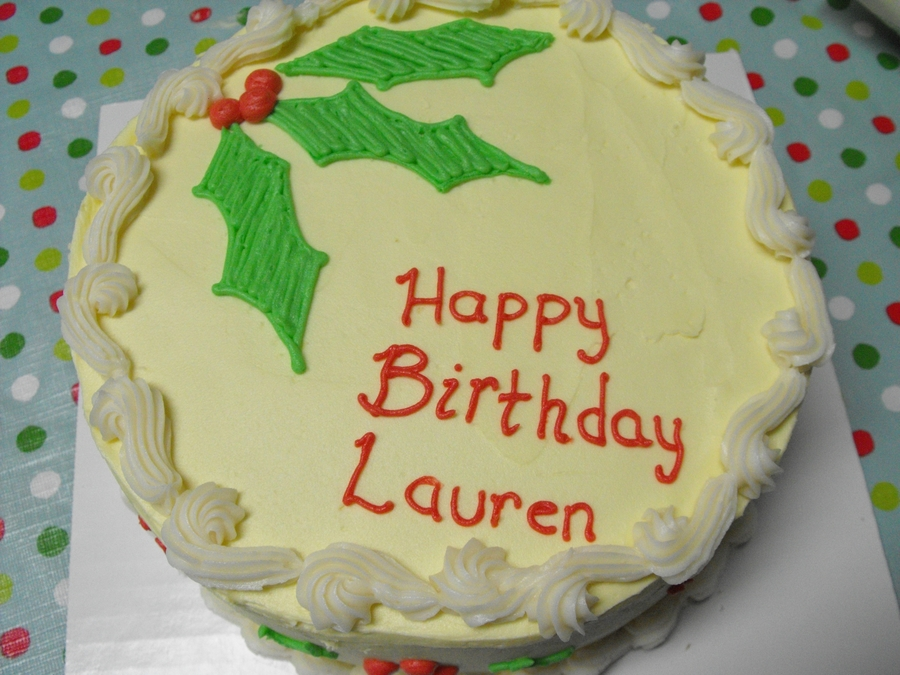 Pleasing Christmas Themed Birthday Cake Cakecentral Com Personalised Birthday Cards Veneteletsinfo