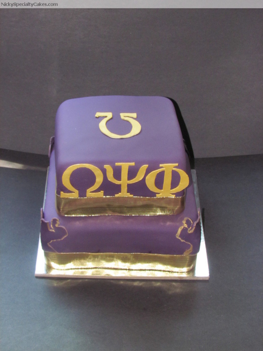 Pleasant Omega Psi Phi Cakecentral Com Funny Birthday Cards Online Elaedamsfinfo