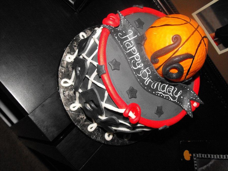 Basketball Hoop Cake CakeCentralcom
