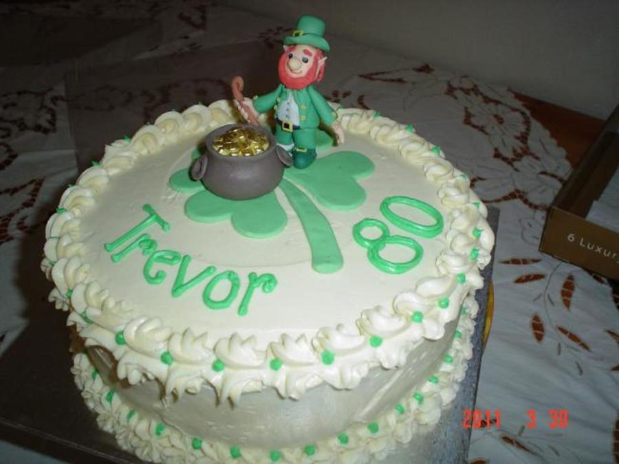Leprechaun Cake on Cake Central