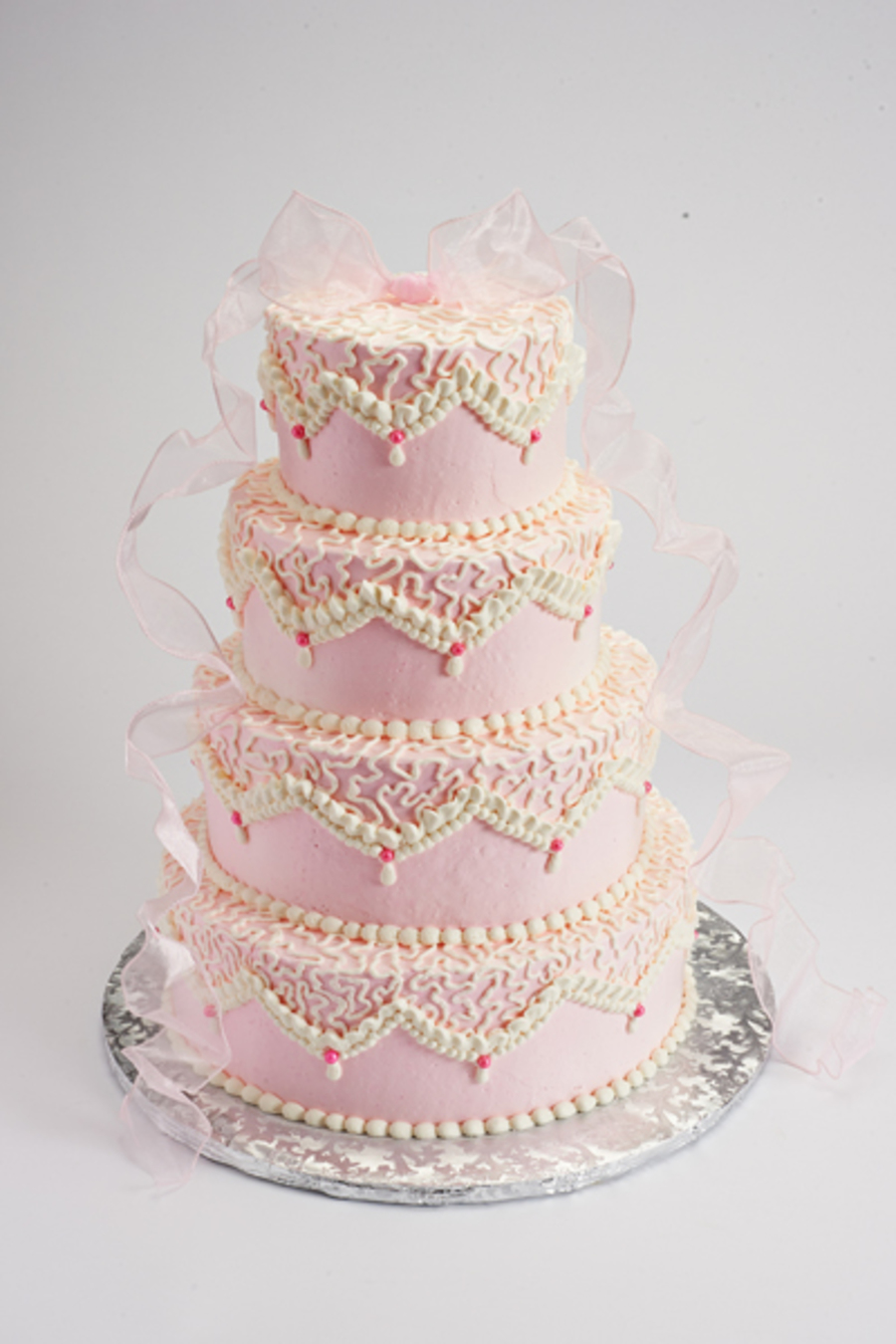 chantilly lace wedding cake pink and white chantilly lace cake for march 2013 photo 12499