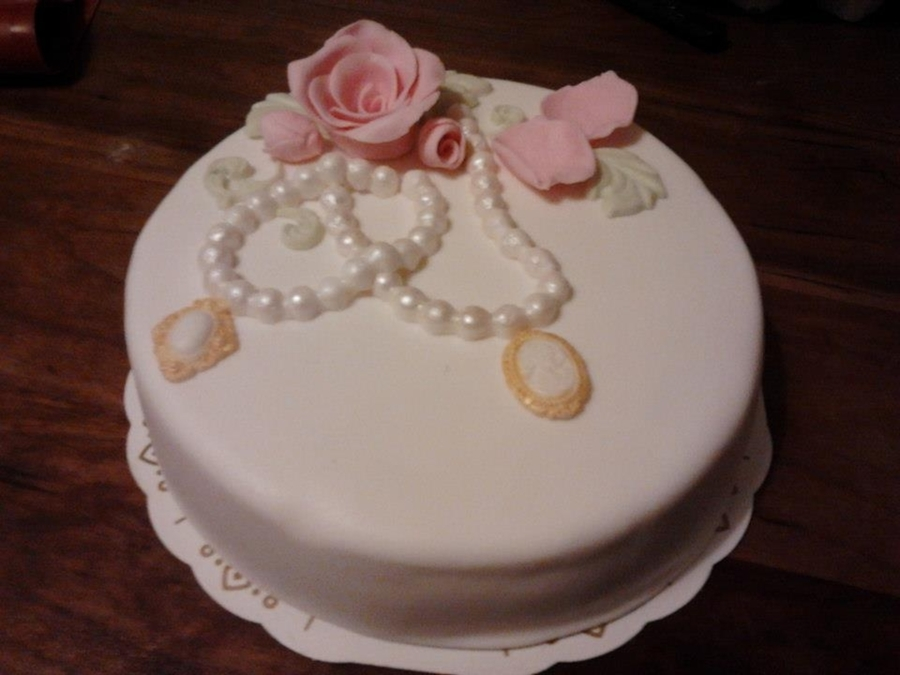 Vintage Styled B-Day Cake on Cake Central