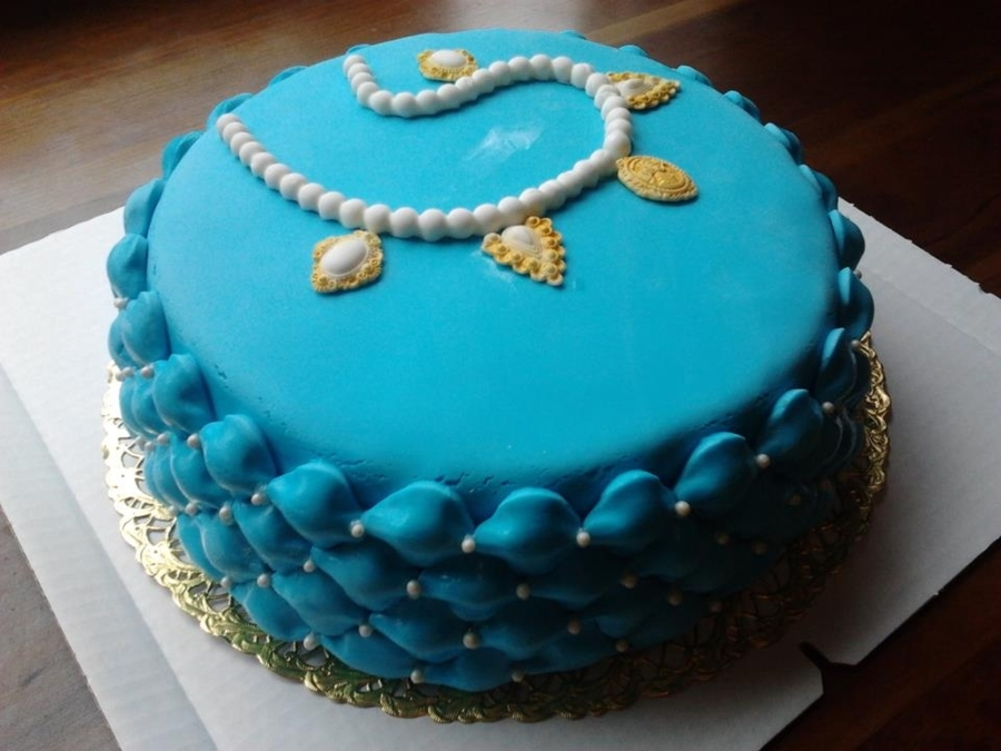 Turquoise Vintage Style Cake on Cake Central