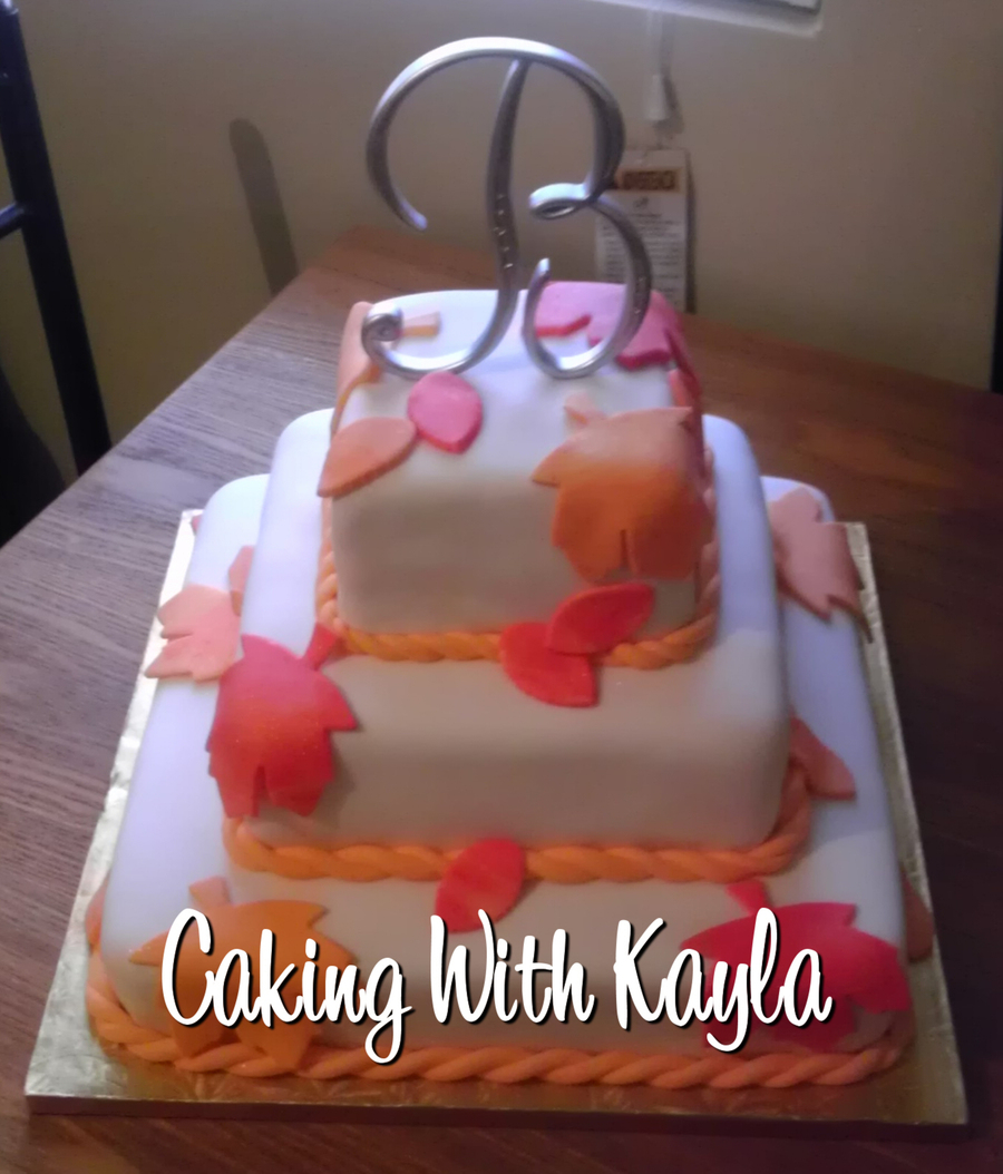 Fall Wedding Cake on Cake Central