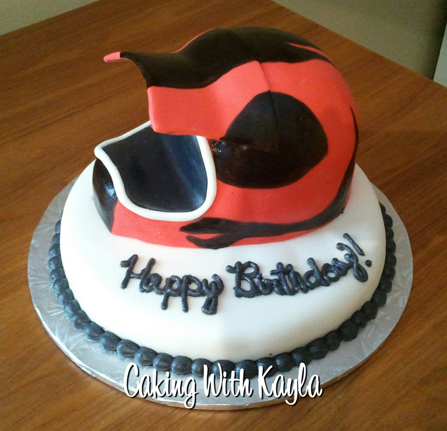 Motocross Helmet Cake on Cake Central