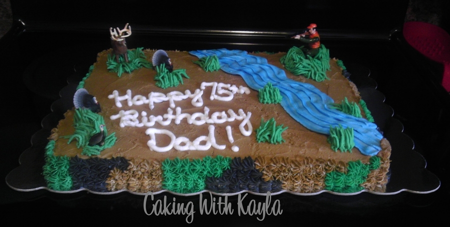 Turkey And Deer Hunting Cake on Cake Central