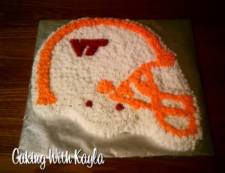 Virginia Tech Helmet Cake on Cake Central