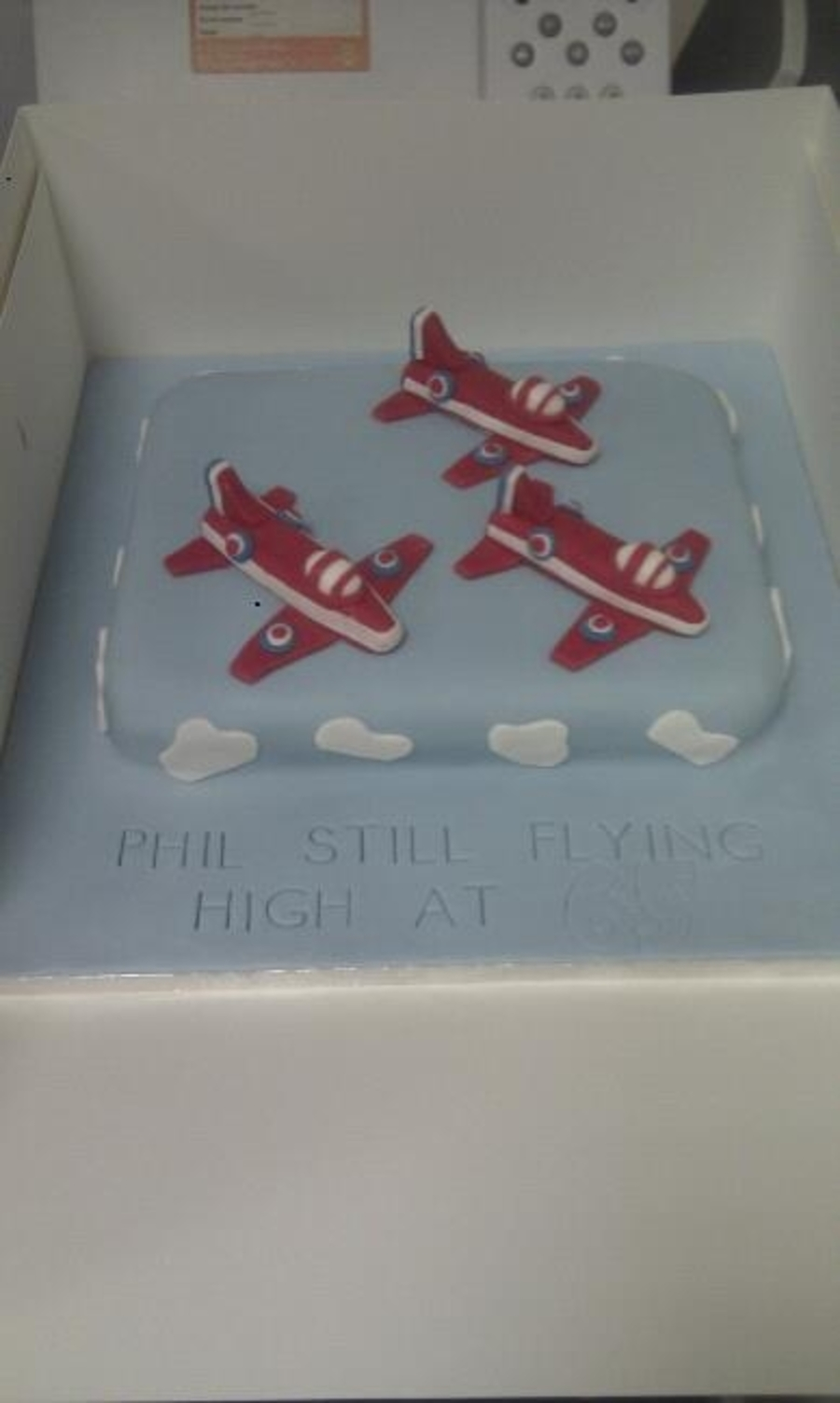 Red Arrows In Formation on Cake Central