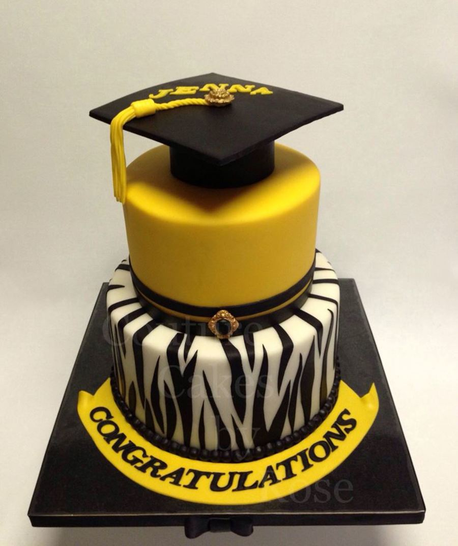 A Graduation Cake I Made For A Young Lady Who Graduated