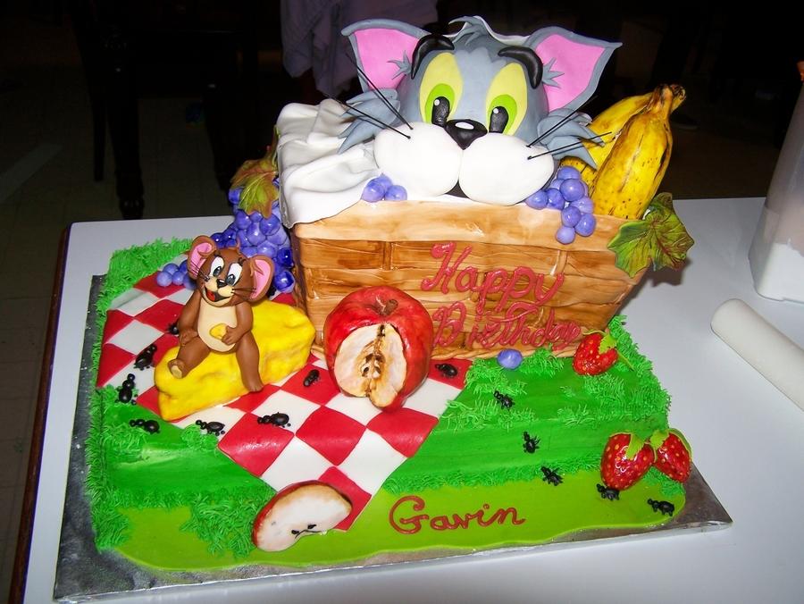 Tom And Jerry Picnic CakeCentralcom