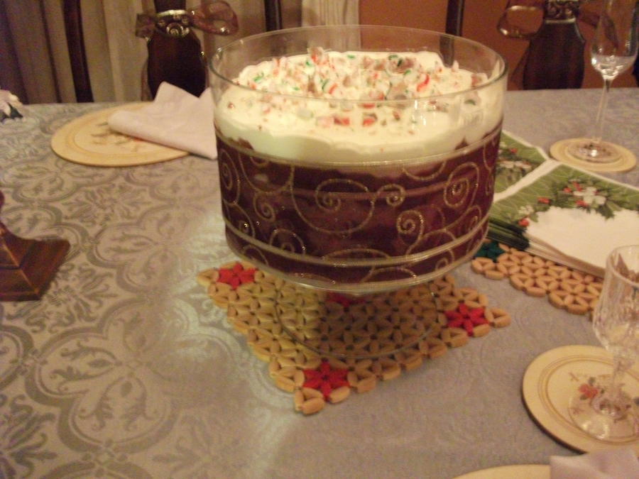 Candy Cane Red Velvet Trifle on Cake Central