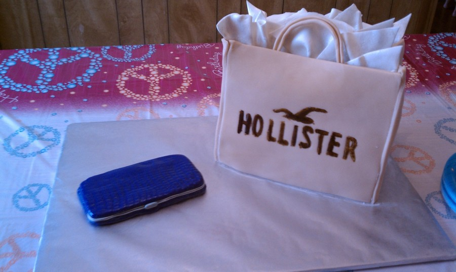 Hollister Shopping Bag on Cake Central