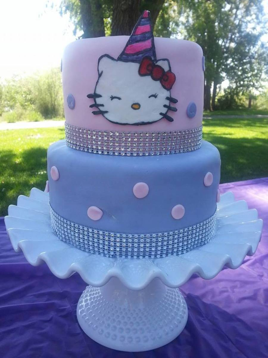 Hello Kitty Two Layer Cake