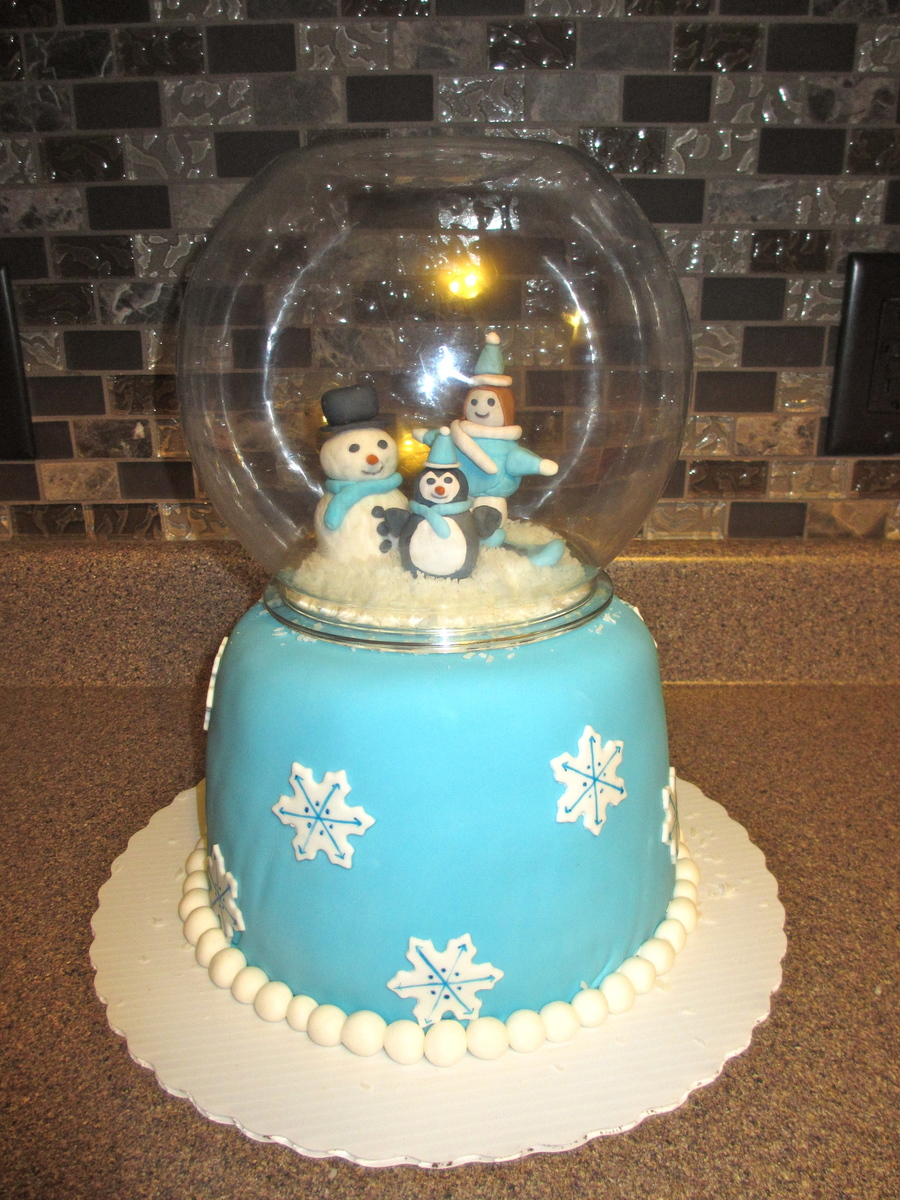 Snowglobe Cake on Cake Central