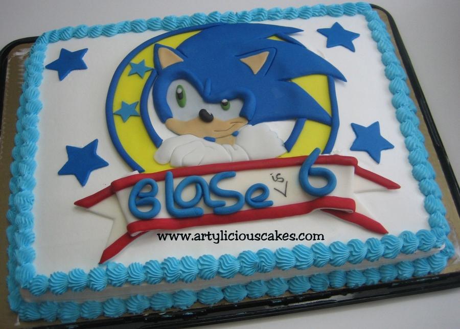 Groovy Sonic Logo Cakecentral Com Birthday Cards Printable Opercafe Filternl