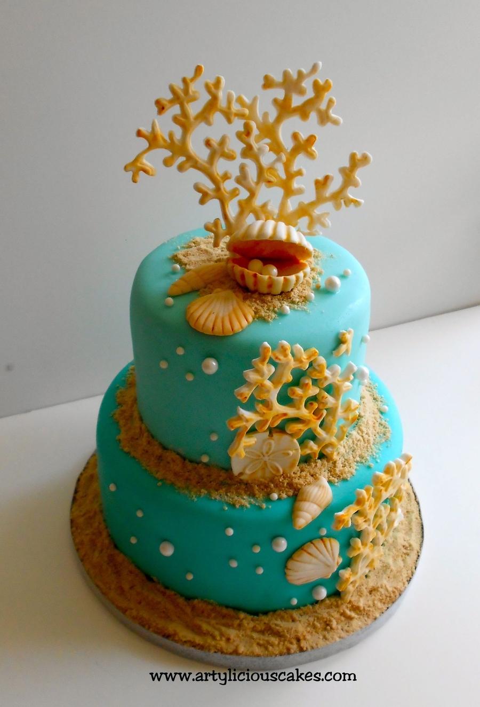 Beach Party Birthday Cake - A baJillian Recipes |Beach Themed Birthday Cakes