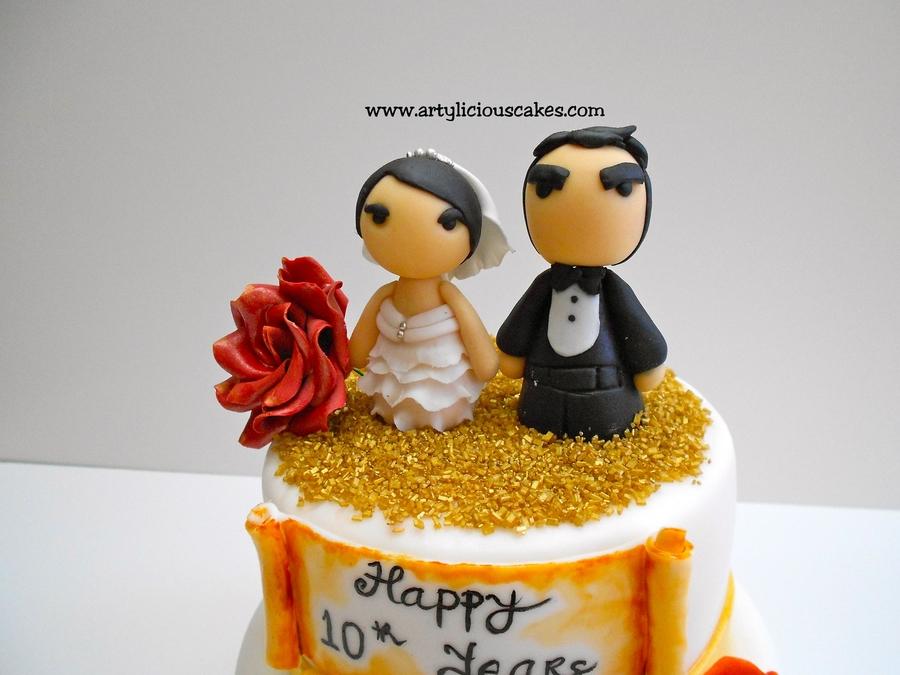 10 Year Wedding Anniversary.10 Years Wedding Anniversary Cakecentral Com
