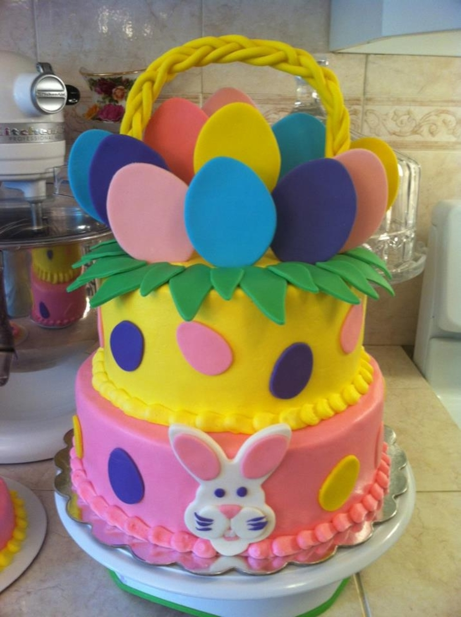 Fabulous Easter Basket Birthday Cake Cakecentral Com Funny Birthday Cards Online Fluifree Goldxyz