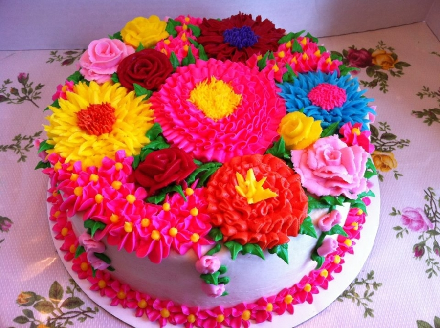 Bouquet Of Flowers on Cake Central