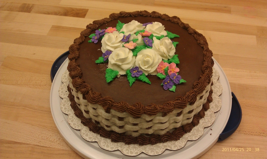 Basket Weaving A Cake : Basket weave cake cakecentral