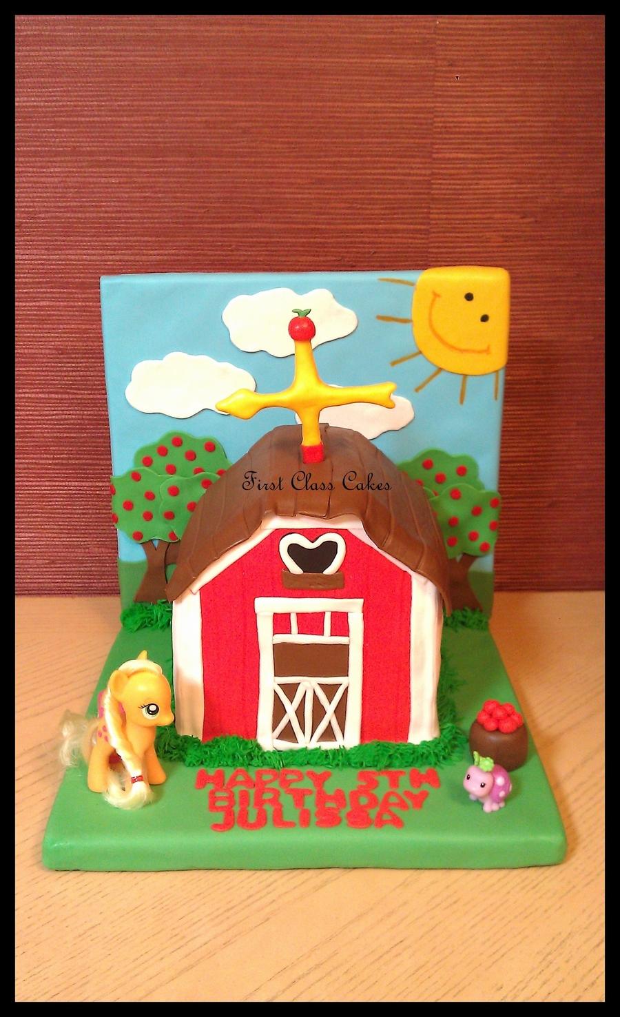 My Little Pony Applejack S Farm Barn Cakecentral Com