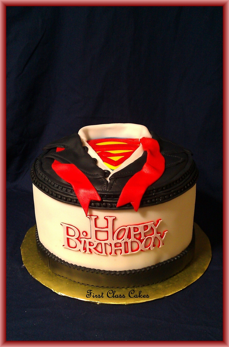 Supermanclark Kent Dress Shirt Cake CakeCentralcom