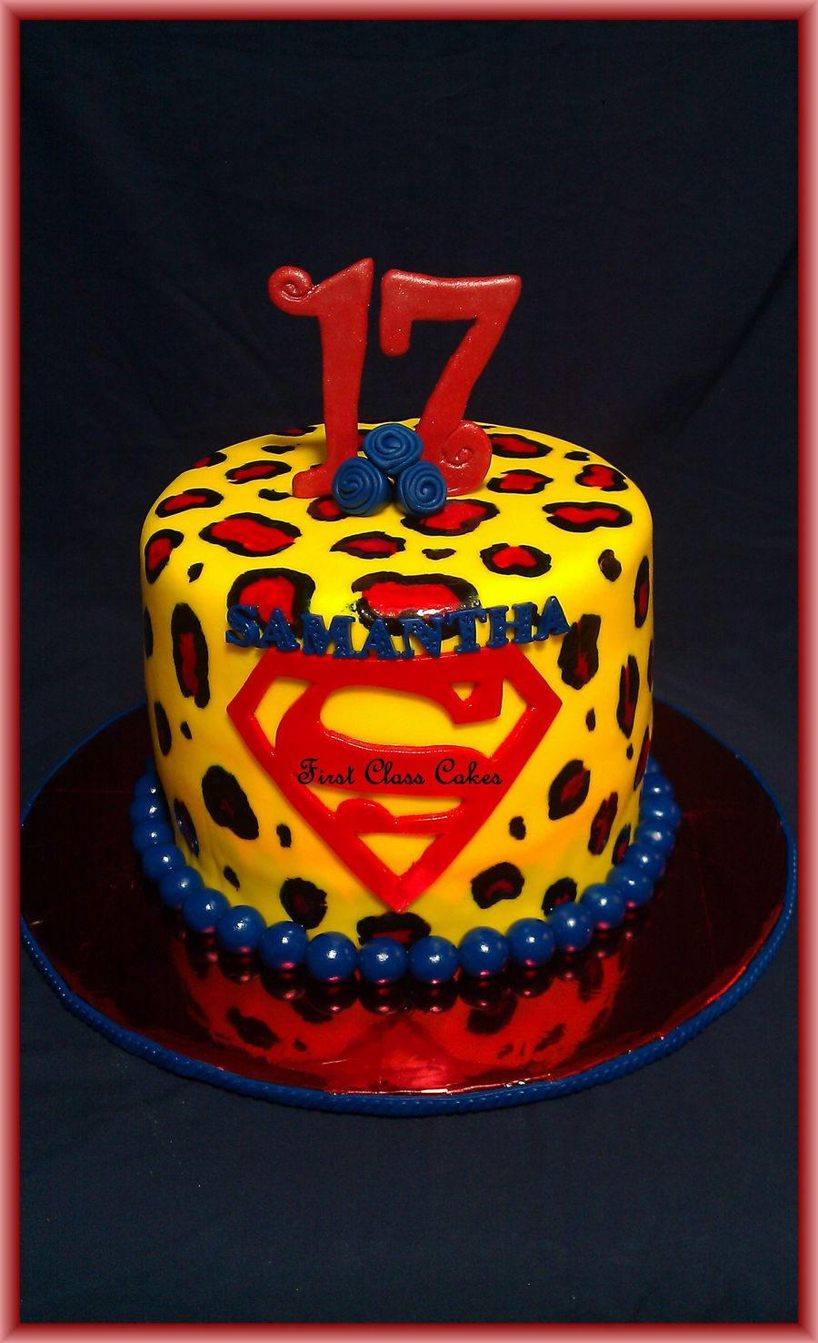 Leopard Print Superman Cake on Cake Central