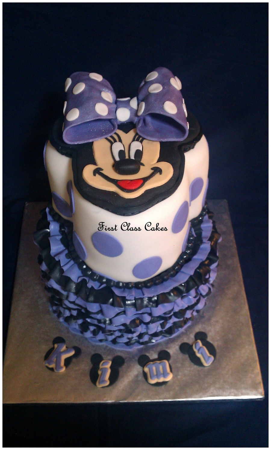 Purple Minnie Mouse Cake on Cake Central
