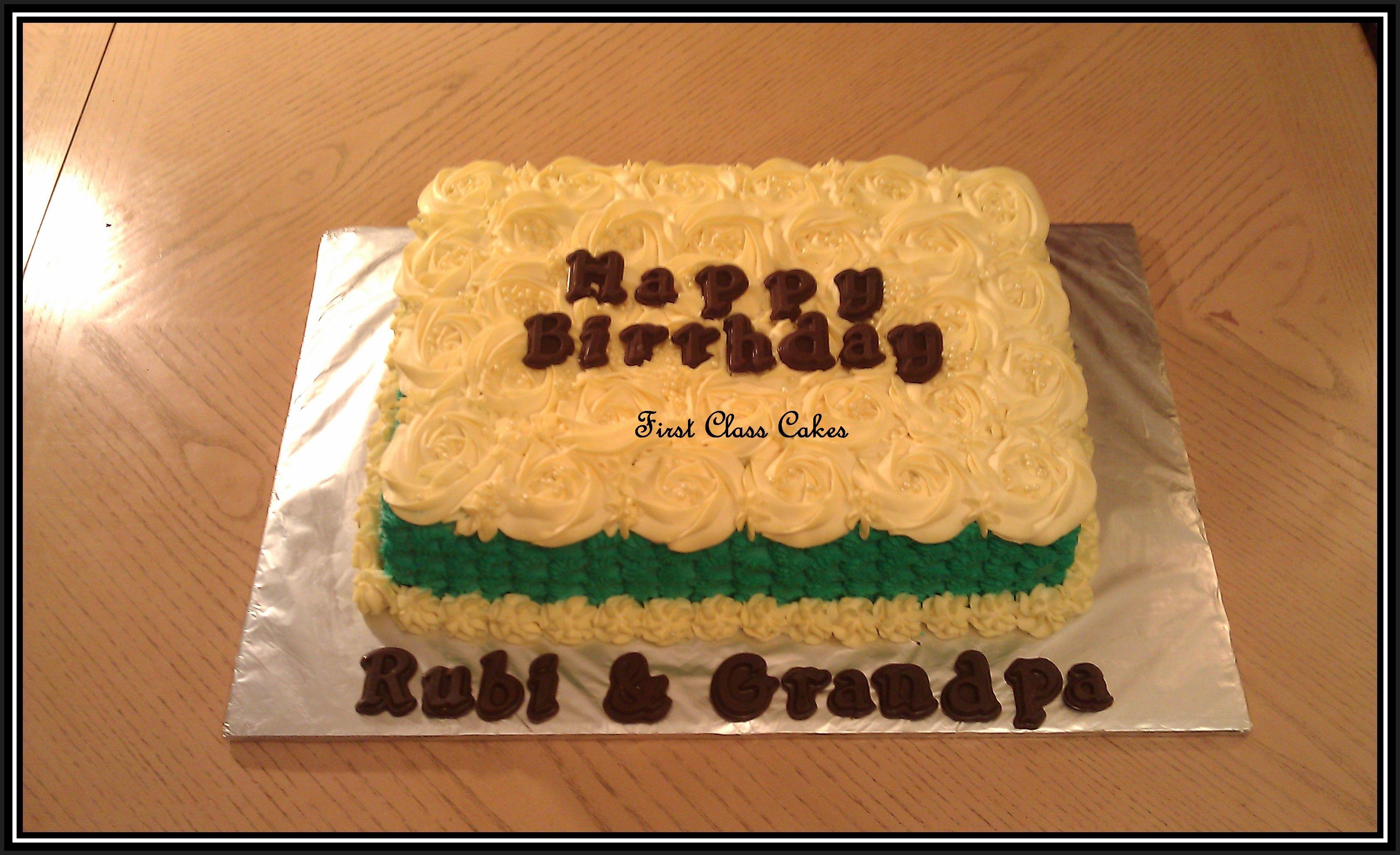 Rosette/petal Effect - Sheet Cake - CakeCentral.com