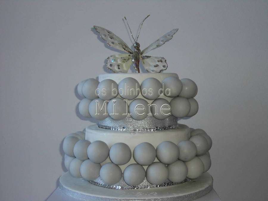 Silver Butterfly Cake Pop Cake on Cake Central