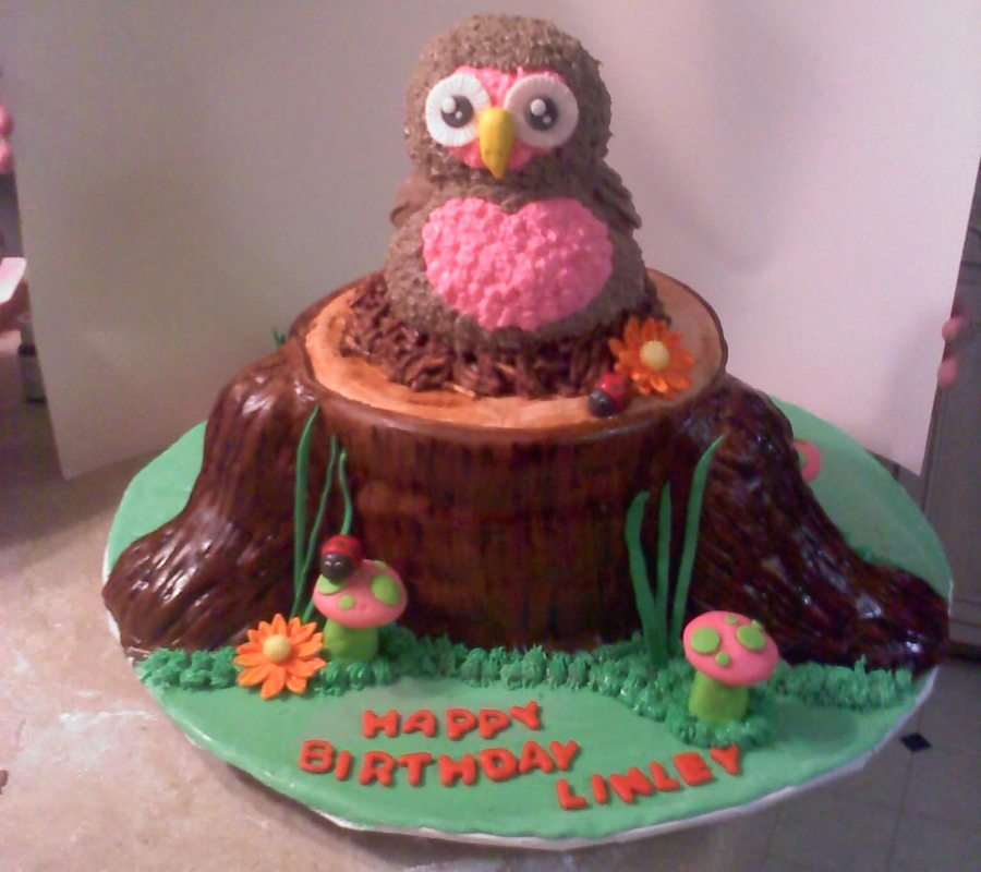 Linley's Owl Cake on Cake Central