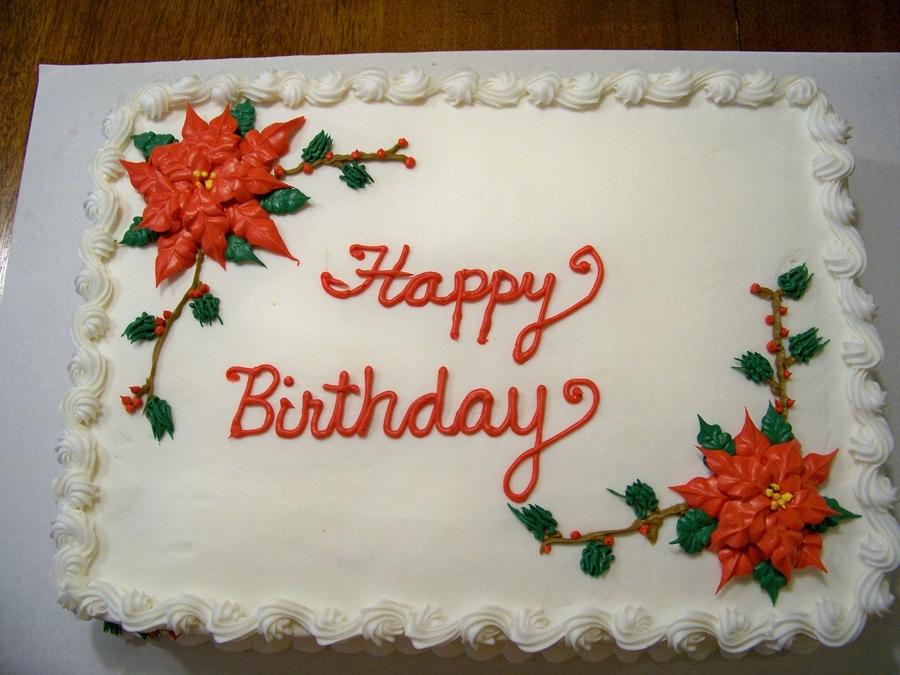 Cake Decorating Christmas Theme : Christmas Themed Birthday Cake - CakeCentral.com
